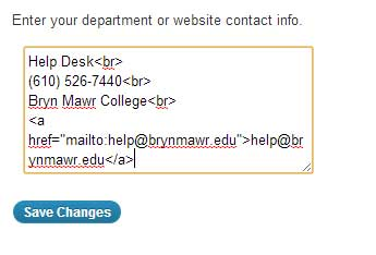 editing the contact information