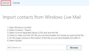 illustration of uploading contacts