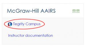 Screen shot of Tegrity Campus block