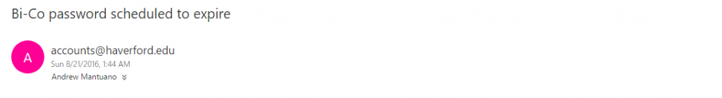 Bi-Co Password email header