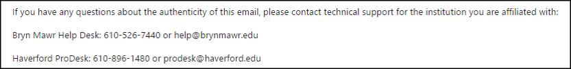 PW Expiry contact info