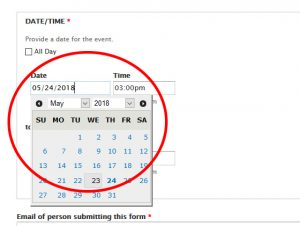 date picker example