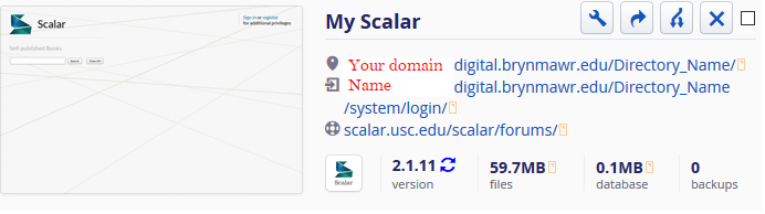 Domain of One's Own: Scalar : Tech Documentation
