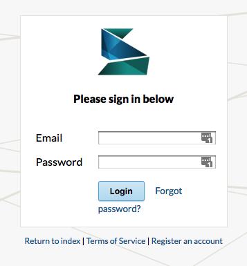 Screenshot of Scalar login page