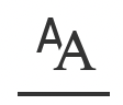 Text Options menu icon
